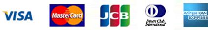 VISA MASTERCARD JCB DinersClub AMEX
