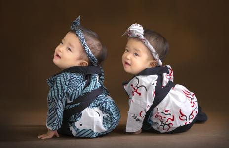 かわいいかわいい双子ちゃんの撮影でした♪